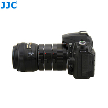 JJC Automatic Extension Tube Metal Auto Focus Lens Adapter 12mm 20mm 36mm Macro Ring for Nikon F-mount Camera SLR NIKKOR