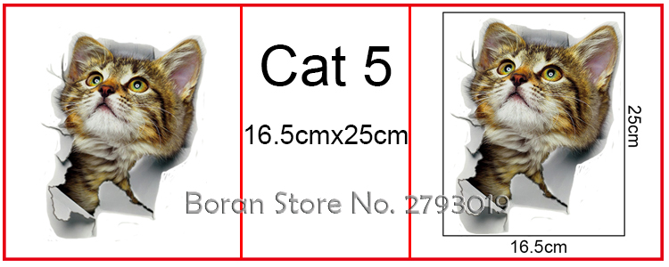 Cats 3D Wall Sticker Toilet Stickers Hole View Vivid Dogs Bathroom Cats 3D Wall Sticker Toilet Stickers Hole View Vivid Dogs Bathroom HTB1xl5qSpXXXXXIXXXXq6xXFXXXG