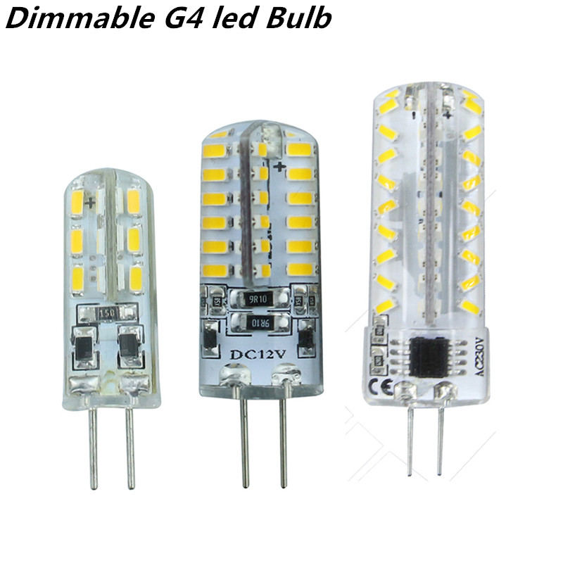 2015 new dimmable G4 led Bulb Lamp High Power SMD3014 3W 5W 6W 12V 220V Replace 10W 30W halogen lamp 360Beam Angle LED lamp<br><br>Aliexpress