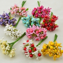 10 pcs Mini Artificial Stamen Bud leaves a bouquet for Wedding Christmas Party Decoration DIY wreaths Artificial Flowers