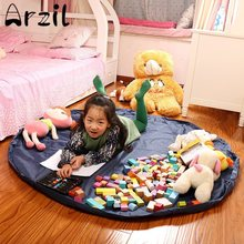 Storage Bag Blanket Polyester Fabric Large Toy Bags Can Be Used When The Carpet Bags For Kids Toy Family Picnic(China)