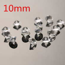 1000 500 10mm Transparent Acrylic Diamonds Wedding Decoration Centerpieces Crystal Mariage Table Scatters Supplies