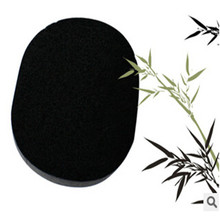 Soft Natural Black Bamboo Sponge Beauty Facial Wash Cleaning Cosmetic Puff Charcoal Black Hot Sale -35