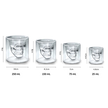 JANKNG Transparent Crystal Skull Head Shot Glass Cup For Whiskey Wine Vodka Home Drinking Ware Man Gift Cup