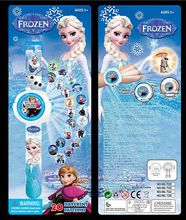 Fashion Toys Cartoon 20 Projection Watch Frozen Elsa Anna And Olaf Led Digital Projector Watches Brand Children Gift(China)