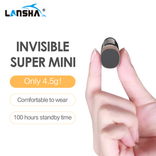LANSHA Mini Bluetooth Earbuds Handsfree Noise Cancelling Smallest Wireless Earphone With Mic For Mobile Phone Iphone In Car(China)