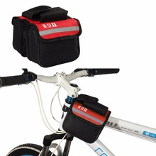 BOI H1E1 15* 11.5*5cm 2L Cycling Bike Top Frame Front Pannier Tube Bag Double Pouch Holder Mountain Bicycle Accessories