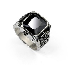 Handmade 925 Silver Crown Onyx Ring
