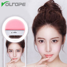 VOLTOPE Phone Photography Ring Light Selfie Portable Flash Led Camera Enhancing Photography for Smartphone iPhone7 6 5s huawei