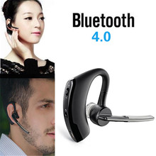 V8 Bluetooth Headset Wireless Earphone Handsfree Business V4.1 Ear Hook Voice Control Support 2 Cell Phones at one Time With MIC
