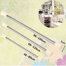 High Quality Extendable Curtain Rod Stainless Steel Adjustable Spring Tension Curtain Rod Pole Window Curtain Shower Curtain Rod(China)