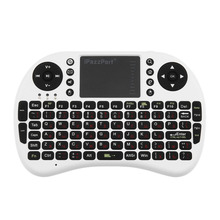 iPazzPort Universal 2.4GHz Mini Wireless Touchpad Keyboard Combo for Desktop Laptop Multimedia Russian Version Black White(China)