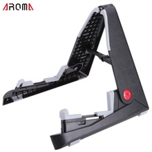 Aroma AGS-01 Foldable Stand A-frame Holder Bracket Mount for Guitar Bass Stringed Instrument Universal Compact Space-saving