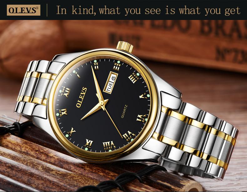 HTB1xlMif3MPMeJjy1Xdq6ysrXXae - OLEVS Luxury Men Gold Watches High Quality Watch Men's Quartz Date Clock Male Week Display Wristwatch Steel relogio masculino