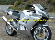 Fashon style silver Fairing  for 2005 2008 KAWASAKI ZZR600 05 08 ZZR 600 2005-2008 ZZR 600 05 06 07 08  body work