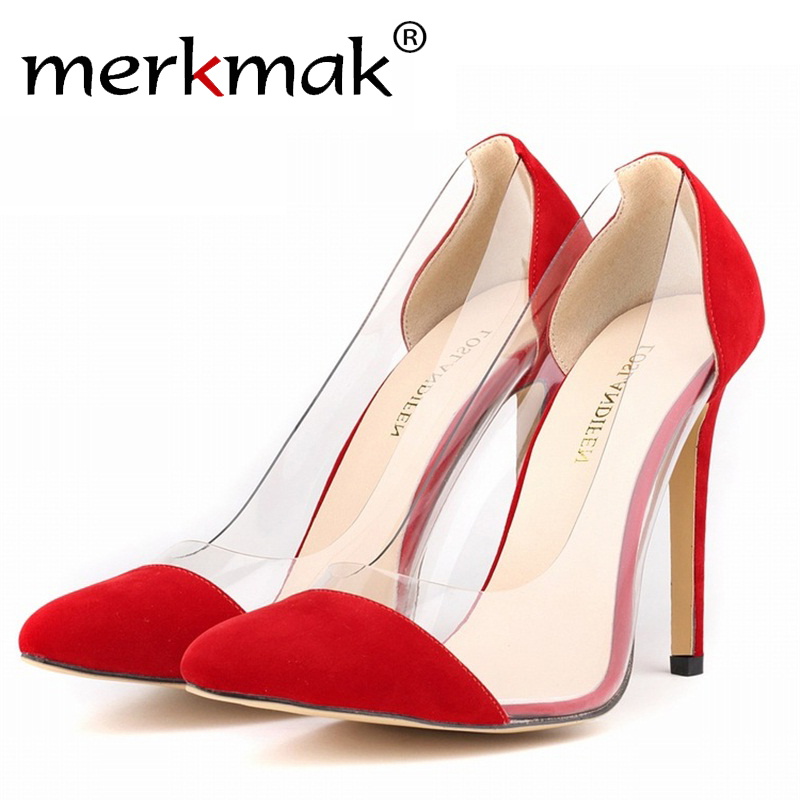 Hot 10 Colors Size 34-42 Spring Summer Elegant Flock Shoes Woman Pumps High Heels Women 2017 Red Wedding Shoes Sapatos Feminino<br><br>Aliexpress
