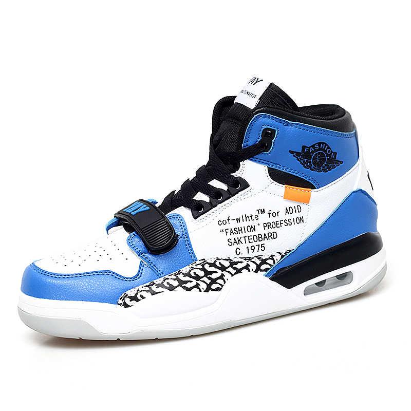 b2002bc98106a4 Unisex Air Cushion Basketball Shoes Shock Non-Slip Jordan Shoes Sneakers  Men Jordan Retro Zapatillas