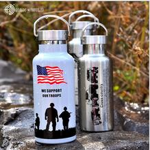 Stainless steel portable can provide security Cup flag Eagle pattern insulation pot office coffee insulation cold bottle mug