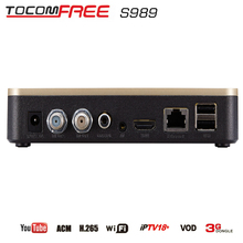 2016 Tocomfree S989 newcam cccam FTA satellite receiver with USB wifi sale in Latin America