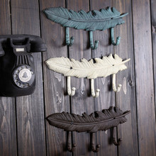American country feathers wall hangings home accessories coat hook clothing store linked to the wall decorations bj0119