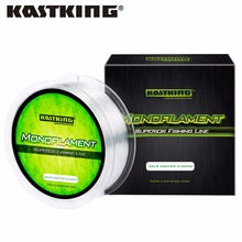 KastKing 550m Monofilament Nylon Fishing Line Red/Yellow/Blue/Clear/Green 4 6 8 10 12 14 17 20 25 30LB Nylon Line Fishing(China)