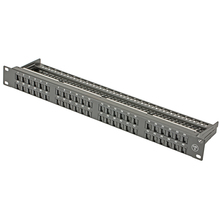 "Network CAT6 48ports Patch Panel 19"" 1U - With cabe management and RJ45 socket with shutter design(China)"