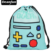 Deanfun 3D Printing Colorful Drawstring Bags Women Backpacks New Fashion Style SKD 91