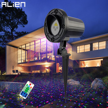 ALIEN Outdoor RGB Star Laser Projector Shower Light Waterproof Garden Christmas Lights Outdoor Xmas Tree Holiday Party Lighting(China)