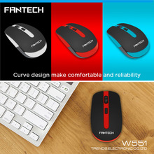 FANTECH Mini Style Cute 2.4 Ghz 1600DPI Wireless Universal Mouse USB 2.0 Pro Office Mouse Optical Mice For Computer PC