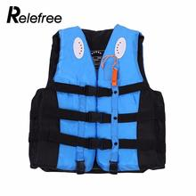 Relefree Safety Life Jacket Vest for fishing Safety Drifting Vest Surfing swim vest inflatable life vest adult with whist(China)
