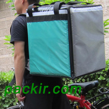 "PK-76BG: Exterior Waterproof Food Delivery Backpack, Stain Resistant Pizza Delivery Bag, 16"" L x 15"" W x 18"" H(China)"