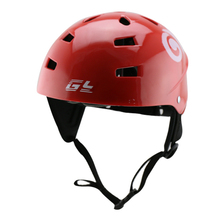 Red color water sports helmet ,best sale kayak helmet with ABS Wave &kitesurfing sailing helmet