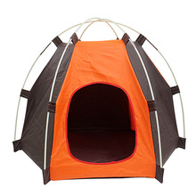 Pet Dog Cat Tent Folding Hexagonal Oxford Pet Tent Detachable for Small Medium Large Dogs Cats Outdoor Camping Home Travel House