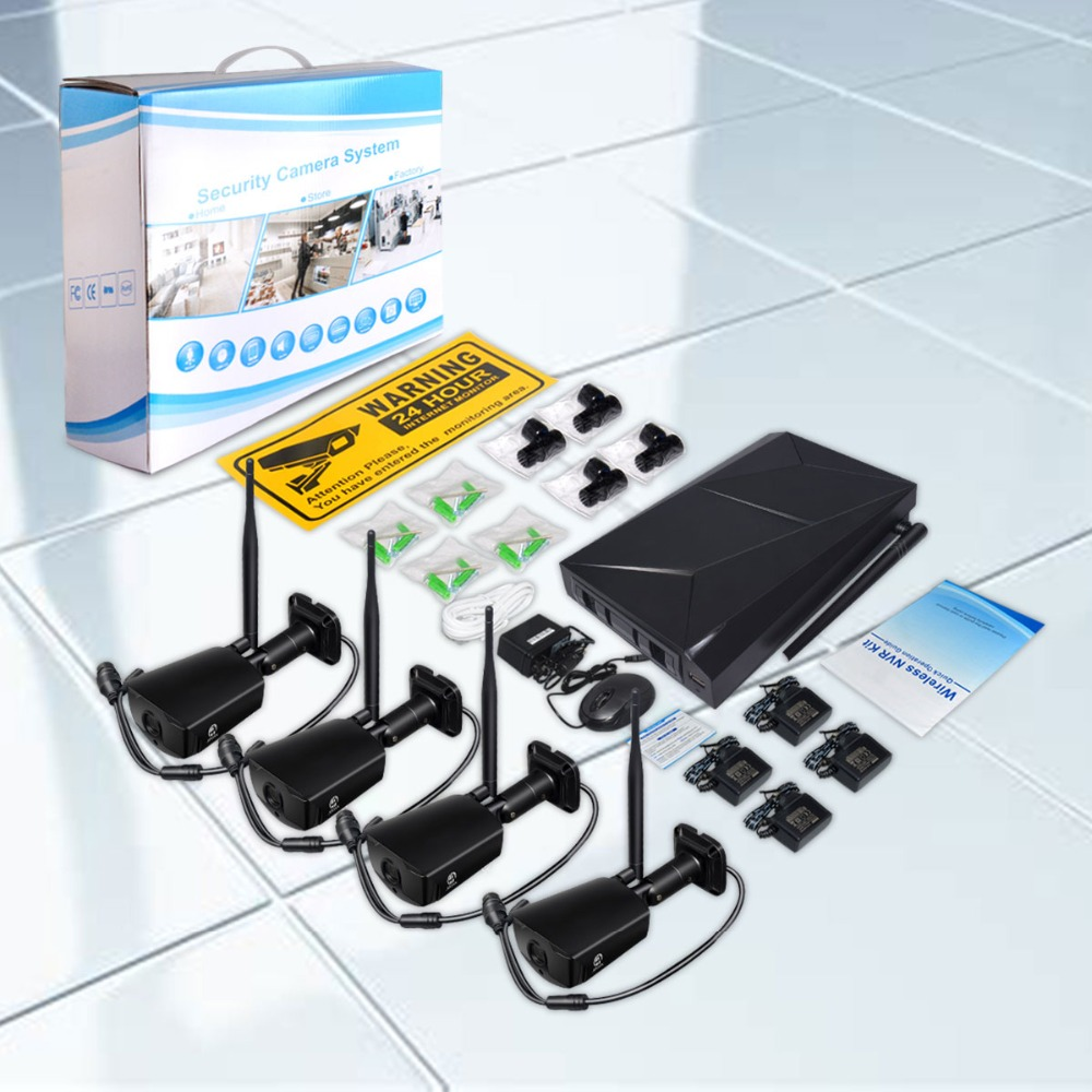 JOOAN 4CH CCTV System Recorder 4PCS 1080P Outdoor Weatherproof Security IP Camera 4CH NVR DayNight Video Surveillance Kits (6)