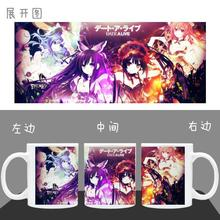 DATE A LIVE Nightmare  Color Changeing Mug Print Anime Coffee Cup Man Morning Tea Cups With Gift Box Spoon and Lid
