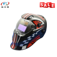 Red Color adjustable darkening Cool Welder tool Electronic Custom Auto Darkening Welding Helmet TRQ-KD04-2233FF