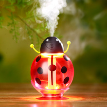 New USB Mini beetle Humidifier Light vehicle Air cleaner 360 degree spray cartoon