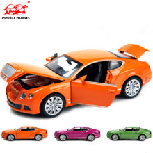 1/32 Alloy Diecast Continental GT Car Model Green / Purple / orange With Sound&Light Collection Car Toys For Boy Children Gift