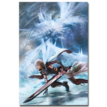 Lightning - Final Fantasy XV Art Silk Fabric Poster Print 13x20 24x36 inch Hot Game Pictures for Living Room Wall Decor 015
