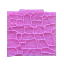 DIY Stone Wall Silicone Mold Fondant Cake Decorating Sugarcraft Wood Texture Pastry Clay Mould Cake Molds Kitchen Baking Tools
