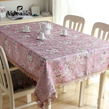 wedding decoration  chinese retro lace pink  formal  220 cm table  cloth elegant party supplies banquet tableclothes