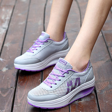 summer women Toning Fitness Shoes outdoor girls platform sneakers female Slimming swing shoes sports shoes ladies size 35-40(China)