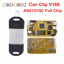 Newest CYPERSS AN2131QC Full Chip For Renault Can Clip V169 Auto Diagnostic Interface Gold Side PCB Board CAN Clip For Renault(China)