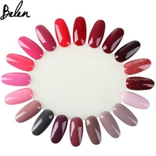 Belen 10PCS Natural White Polish Color Display Wheel Practice Chart False Nail Natural False Nail Art Tips Sticks Polish Display(China)