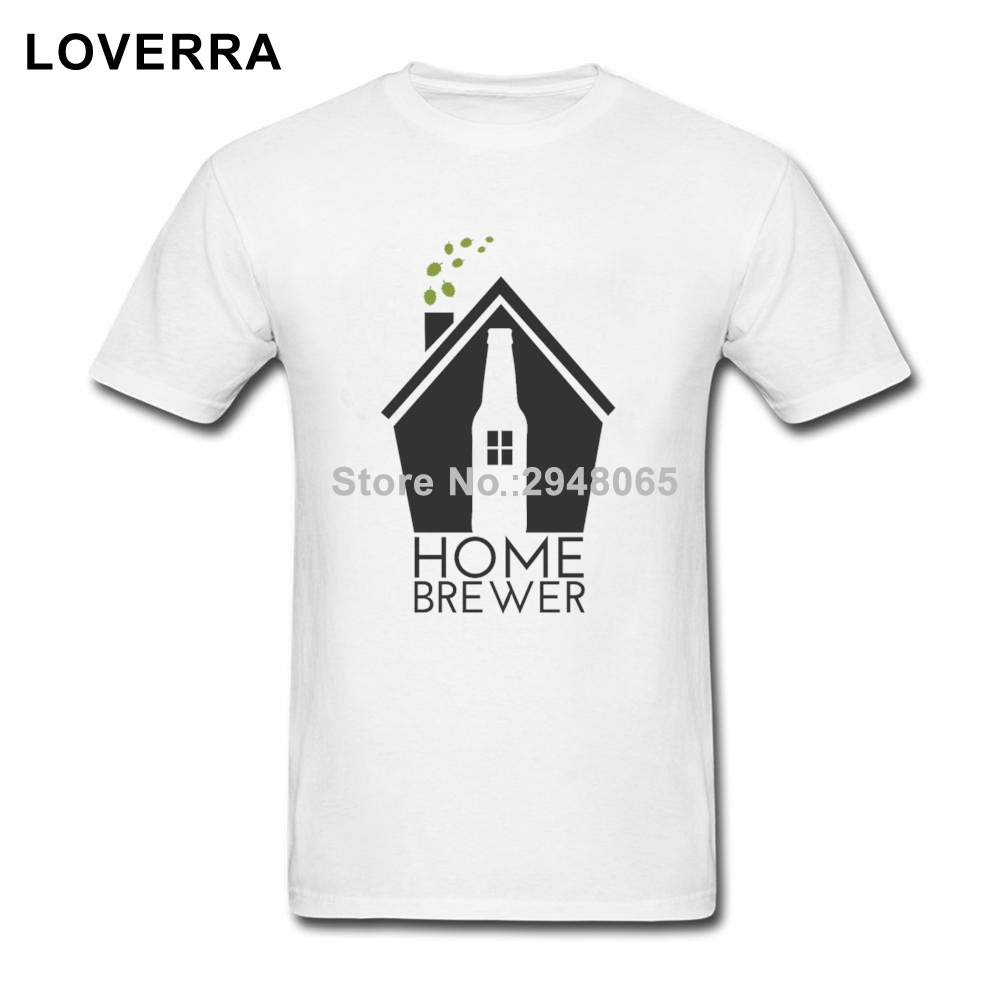Home Brewer CRAFT BEER Male T-Shirts O-Neck Brand Clothing TShirt 100%Cotton Plus Size Short Sleeve Plain Tees Shirts For Men(China)