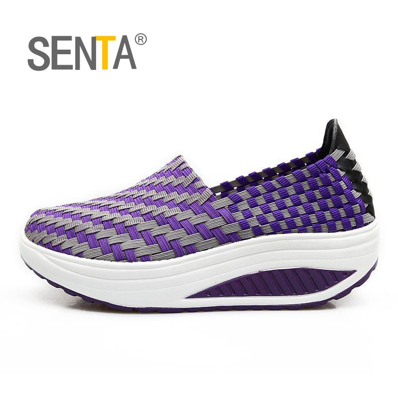 SETA 2018 summer outdoors sports breathable height increasing weave sneakers women walking shoes women sports