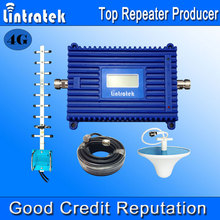 Lintratek LCD Display 4G LTE Signal Booster 1800MHz 70dB Gain GSM Repeater 4G 1800MHz Mobile Phone Signal Amplifier Full Kit F18