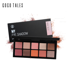 Professional Makeup 10 Warm Colors Matte Eyeshadow Palette Nautral Mineral Nude Eye Shadow Contour Palette Maquiagem GOGO TALES