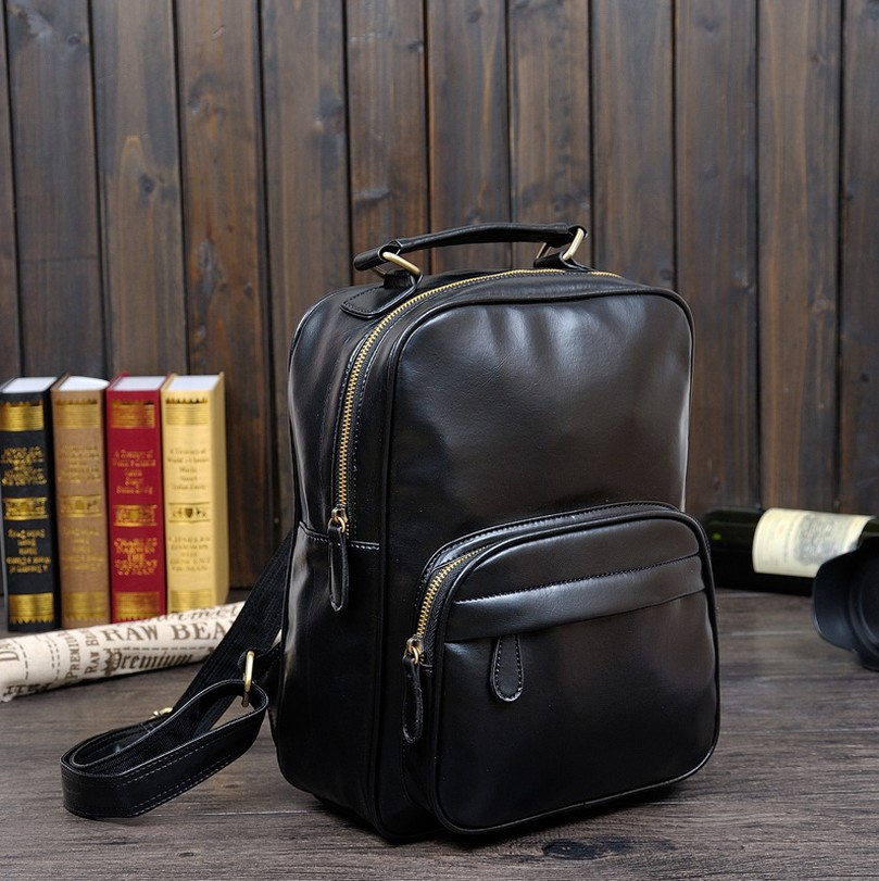 The wind restoring ancient ways backpack students bag leisure backpack new college leather <br>