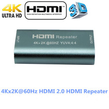 Mini Real 4K x 2K@60Hz HDMI 2.0 Extender HDMI Repeater YUV 4:4:4 3D HDMI Adapter Amplifier Booster 18Gbps Over HDCP 2.2 HDMI2.0(China)